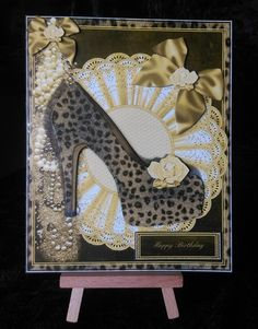 Wild Cat Style Shoes Card Front on Craftsuprint - View Now!