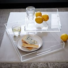 Acrylic Trays. These are West Elm, but you can get them at other places like Target, too.