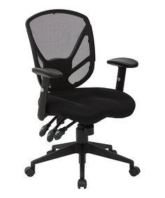 Black Saddle Seat Office Chair by Avesix #zulily #zulilyfinds