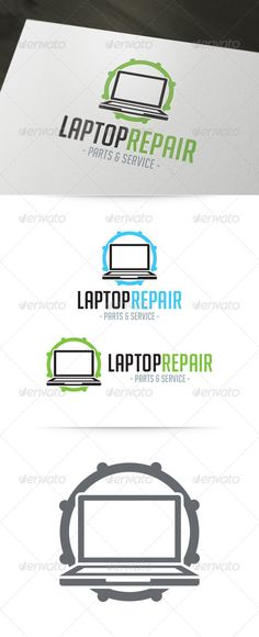 Laptop Repair Logo - Objects Logo Templates