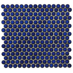 SomerTile 12.25x12-in Penny 3/4-in Blue Eye Porcelain Mosaic Tile (Pack of 10) - not as good as emerald