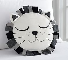 Emily & Meritt Sleepy Lion Pillow