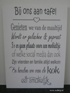 Prachtig tekstbord, prachtige tekst! Vooral de zin over mobieltjes en social media is GENIAAL! gezien op webkip nl in de rubriek tekstborden Fun Words To Say, More Than Words, Cool Words, Prayer For My Family, Social Media Cheat Sheet, Motivational Quotes, Funny Quotes, Dutch Quotes, Food Quotes