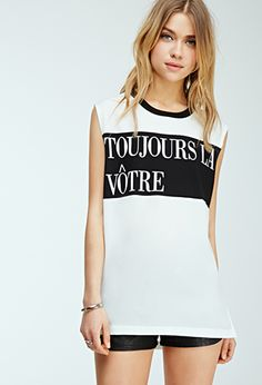 Colorblocked Toujours la Vôtre Tank | FOREVER21 - 2000096660