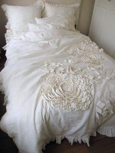 Unique handmade Dahlia duvet cover,Fabric Flower Applique Bohemian bedding duvet cover oatmeal neutral cotton Linen by Nurdanceyiz by nurdanceyiz on Etsy https://www.etsy.com/listing/202681633/unique-handmade-dahlia-duvet-coverfabric