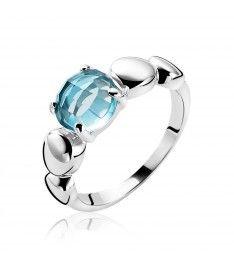ZINZI zilveren ring turquoise ZIR1145T