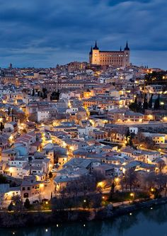Toledo by Ana Tramont on Places Around The World, Around The Worlds, Toledo Spain, 2nd City, City Scene, Spain And Portugal, Night City, Spain Travel, Travel Photos