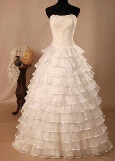 Ivory Sweep Train Classic Wedding Dress