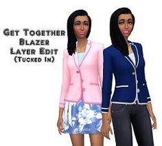 The Sims 4 | VentusMatt: EP02 Get Together Blazer Layer Edit (Tucked In) | CAS clothing override female adult
