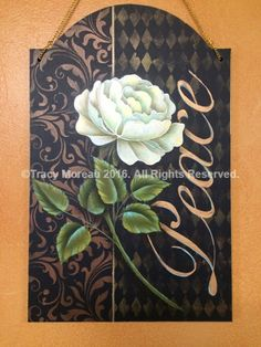 Rita's Peace Rose by Tracy Moreau  I love painting florals , and feel they need an elegant and dynamic background to set them off. This dual stencil technique is easy, and when done using rich metallics , produces an elegant and stylish background for a wide variety of florals. Try using different stencils, and a combination of metallic colours and tones to create totally unique finishes  http://pixelatedpalette.net/issue/january-2016/article/ritas-peace-rose-by-tracy-moreau