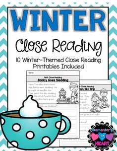 This product includes 10 winter themed reading comprehension worksheets that can…