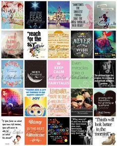 Disney Quotes Motivational Printable Sticker Sheet - DIY - Print at Home - Journal Stickers - fits Erin Condren Life Planner