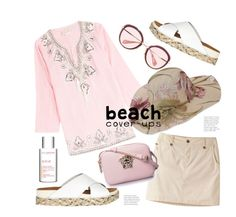 """""""Beach Coverups"""" by hattie4palmerstone ❤ liked on Polyvore featuring Eberjey, Gooshwa, Mountain Khakis, River Island, Miu Miu and Clarins"""