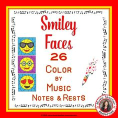 Music lessons | REINFORCE MUSIC THEORY NOTE NAMES with these SMILEY FACES MUSIC ACTIVITIES: Music Mystery Art: Color by Music Notes. Excellent for your Music Lessons - review, earlier finishers or subs \ #musiceducation