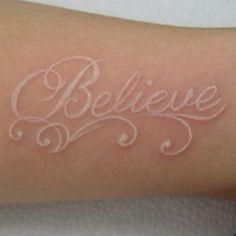 I want a white ink tattoo, so bad!