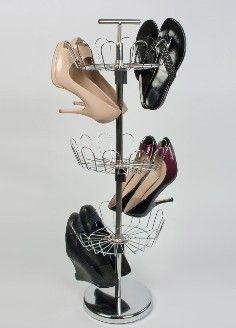 18-Pair Revolving Shoe Organizer in Chrome from BeyondTheRack.com.  Get your rebate from RebateBlast.