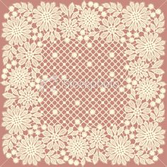 Doily Lace Royalty Free Stock Vector Art Illustration