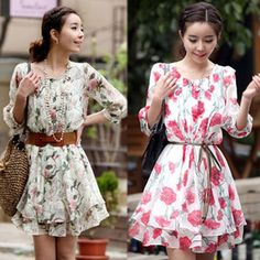 Find More Dresses Information about 2014 Free Shipping New Spring Hot Sale Women Half Sleeve Crew Neck Floral Causal Loose Mini Pleated Dress S M L XL C0204,High Quality dresses short in front long in back,China dress veil Suppliers, Cheap dress up games babies from Fashions On Line on Aliexpress.com