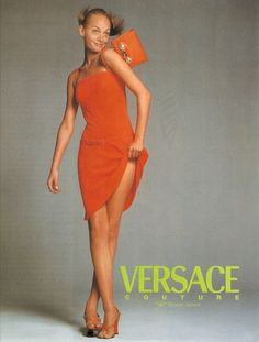 ☆ Amber Valletta | Photography by Richard Avedon | For Versace Campaign | Spring…