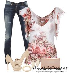 """""""Date Night"""" by amabiledesigns on Polyvore - cute shirt!"""