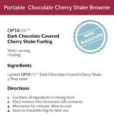 Portable Chocolate Cherry Brownie