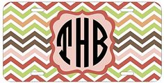 Personalized Monogrammed Chevron Coral Peach Green License Plate Auto Tag Top Craft Case http://www.amazon.com/dp/B00N0257E4/ref=cm_sw_r_pi_dp_fRotub00EDGA8