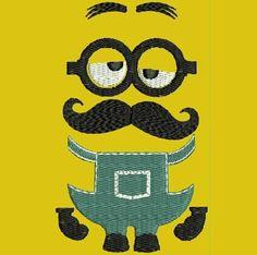 Mustache you a minion Machine Embroidery Designs  Cartoon