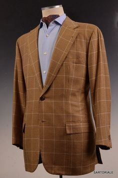 1f9fb808ab9d8 RUBINACCI LH Hand Made Bespoke Dark Gray Wool Business Suit EU 50 US ...