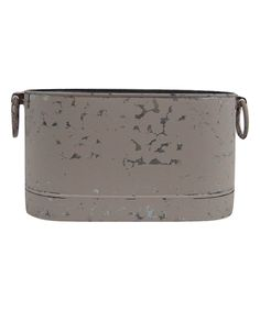 Take a look at this Kraft Klub Large Distressed White Oval Bucket today!