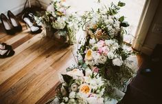 Pastel wedding flowers.