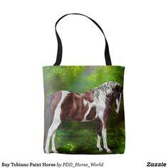 Bay Tobiano Paint Horse Tote Bag