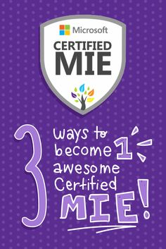 Do you consider yourself an innovative educator? Then you should become a certified MIE Expert! Here are three ways to get started: taking courses, participating in SITC activities, and commenting and sharing content. #MicrosoftEdu