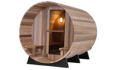 Almost Heaven barrel sauna is designed for efficiency. The barrel shape heats the sauna faster. The outdoor barrel saunas have many style choices. Home Sauna Kit, Sauna Kits, Sauna Ideas, Sauna House, Building A Sauna, Barrel Sauna, Portable Sauna, Traditional Saunas, Outdoor Sauna