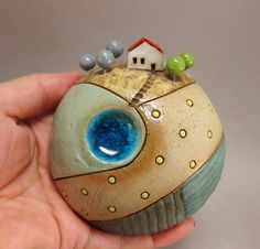Planet R2-D2...3D Wall Globe in Stoneware by elukka on Etsy