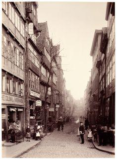 Bei den Mühren, Hamburg, 1884, Foto: Georg Koppmann