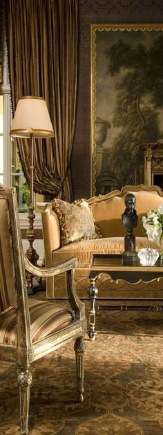 00 Superlative Collection Of Extraordinary Furnishings By Ebanista Living Room Sofa Design Interior Dorado, Gold Interior, Luxury Interior, Sofa Design, Patio Design, Formal Living Rooms, Living Spaces, French Decor, Elegant Homes