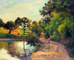 """Camille Pissarro, """"Ponte a Montfoucault"""". (1874)"""
