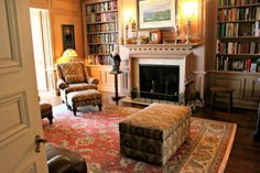 Curl up with a good book and a cup of coffee and enjoy this cozy home library in Peoria, IL.
