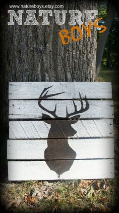 Deer Pallet Art by NatureBoys on Etsy, $54.00 Twin sons of TheFarmerette.com