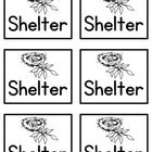 I used these cards when I taught my students the needs of animals: water, food, oxygen, and shelter. Aligns with NCCoS....