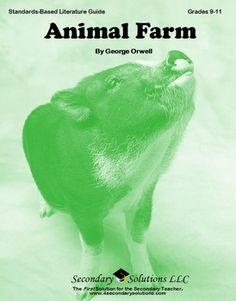 This Secondary Solutions Literature Guide for Animal Farm contains 164 pages of student coursework, quizzes, tests, and teacher resources aligned with Common Core and NCTE/IRA ninth and tenth grade English / Language Arts content standards. Over 90 pages have been added to this revised version! $24.95