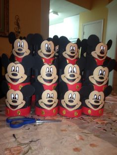 Mickey mouse dulceros/ candy treats made with can of formula milk