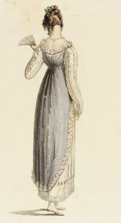 Full Dress, fashion plate, hand-colored engraving on paper, published in Ackermann's Repository, London, June 1814.