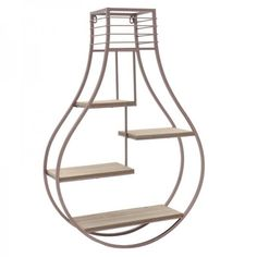 Wall shelf in the form of a light bulb / #design #homegoods