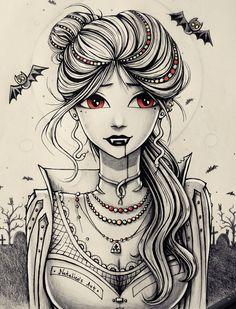 Vampire by natalico.deviantart.com on @DeviantArt