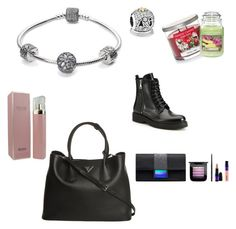 """My wishlist"" by smejo on Polyvore featuring beauty, Pandora, Prada, HUGO, Yankee Candle and MAC Cosmetics"
