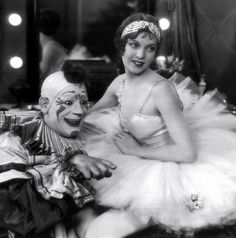 Lon Chaney and Loretta Young in Laugh Clown Laugh c.1928