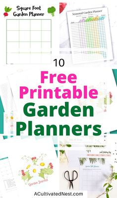 10 Free Printable Garden Planners- These free printable garden planners will help you plan your best garden ever! Whether you're growing vegetables or flowers, they're sure to help! Free Garden Planner, Vegetable Garden Planner, Free Planner, Planner Pages, Happy Planner, Free Notebook, Garden Journal, Growing Vegetables, Garden Planning