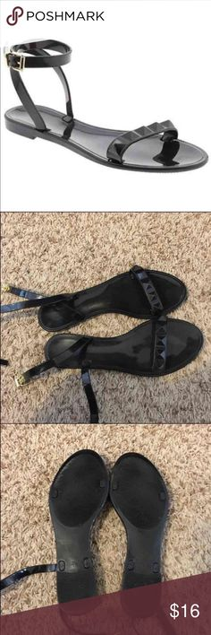 Black Banana Republic Jelly Sandals Fits size 8.5 & 9! Super super cute! Easy to clean & are very durable since they're made of plastic! Can dress up any outfit! Only worn once! Banana Republic Shoes Sandals