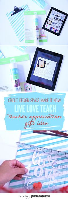 Give Teacher Appreciation gifts with crafts on Cricut Design Space & gift cards! For more ideas, visit Kim Byers at The Celebration Shoppe! Teacher Appreciation Week, Teacher Gifts, Cricut Tutorials, Cricut Ideas, Do It Yourself Crafts, Mason Jar Diy, Diy Gifts, Cricut Craft, Cricut Air